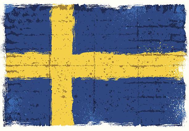 スウェーデンのフラグ - スウェーデンの国旗点のイラスト素材/クリップアート素材/マンガ素材/アイコン素材