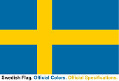 Swedish Flag (Official Colors, Official Specifications)