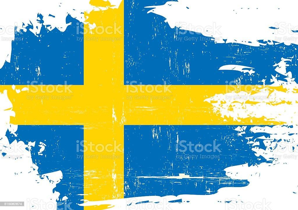 Bandera sueca rayada - ilustración de arte vectorial