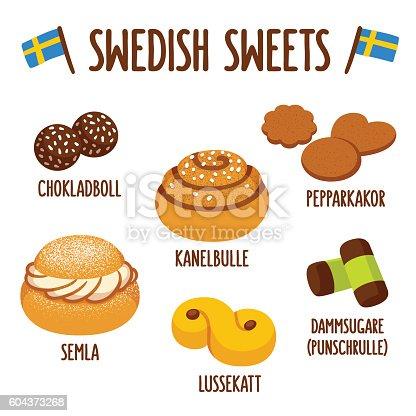 istock Swedish sweets set 604373268
