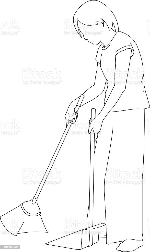 sweeping the floor stock illustration download image now istock https www istockphoto com vector sweeping the floor gm165602198 7045850
