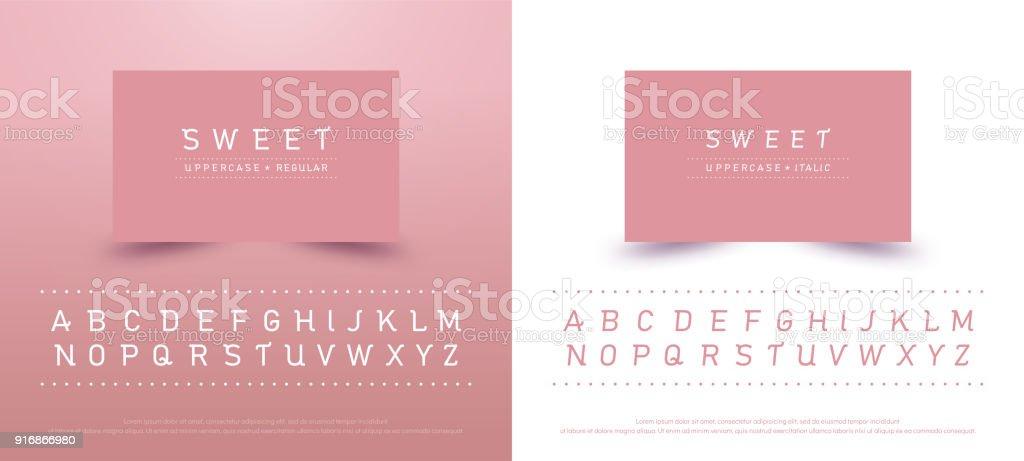 Police En Majuscules Alphabet Sucre Typographie Classique Style Couleur Rose Collection De Polices Pour Logo