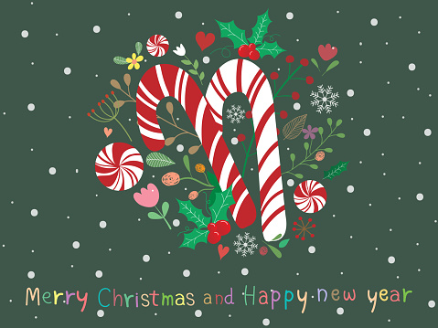 sweet and beautiful christmas background with candy cane mistletoe vector id1279756948?k=6&m=1279756948&s=170667a&w=0&h=isoQp11LW09sss6Lbob0Vxpc f7 vAAEuRoZjPnTjcI=