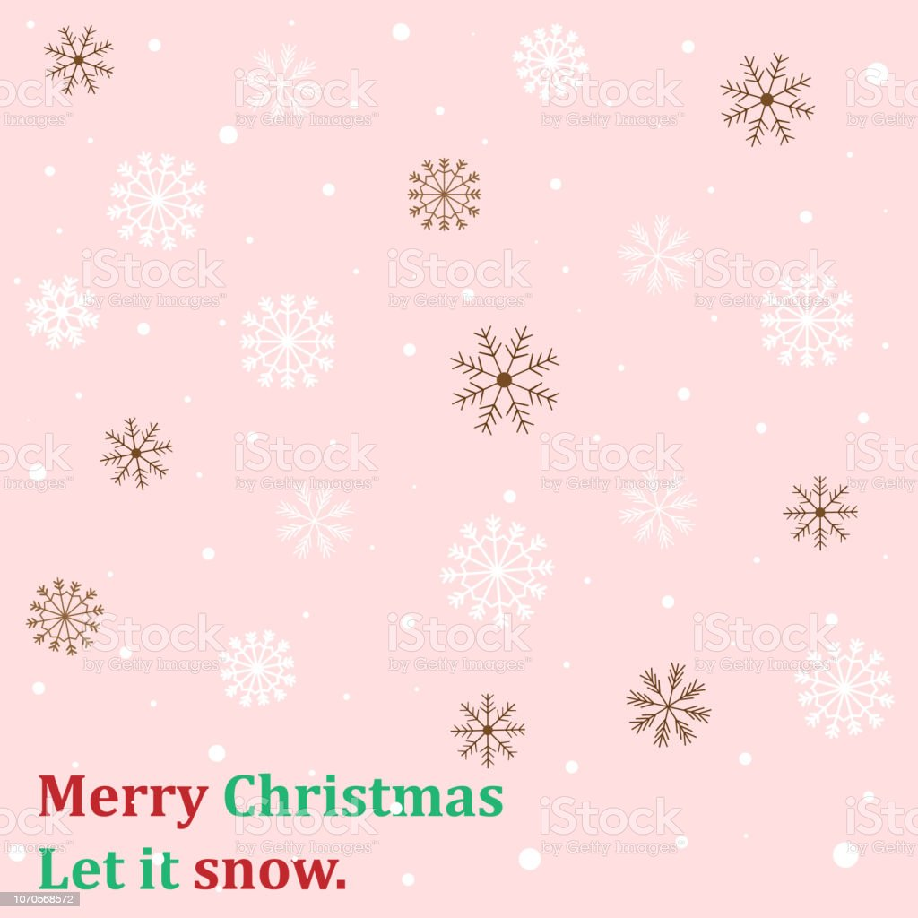 sweet and beautiful snowflake on pastel pink color background and vector id1070568572