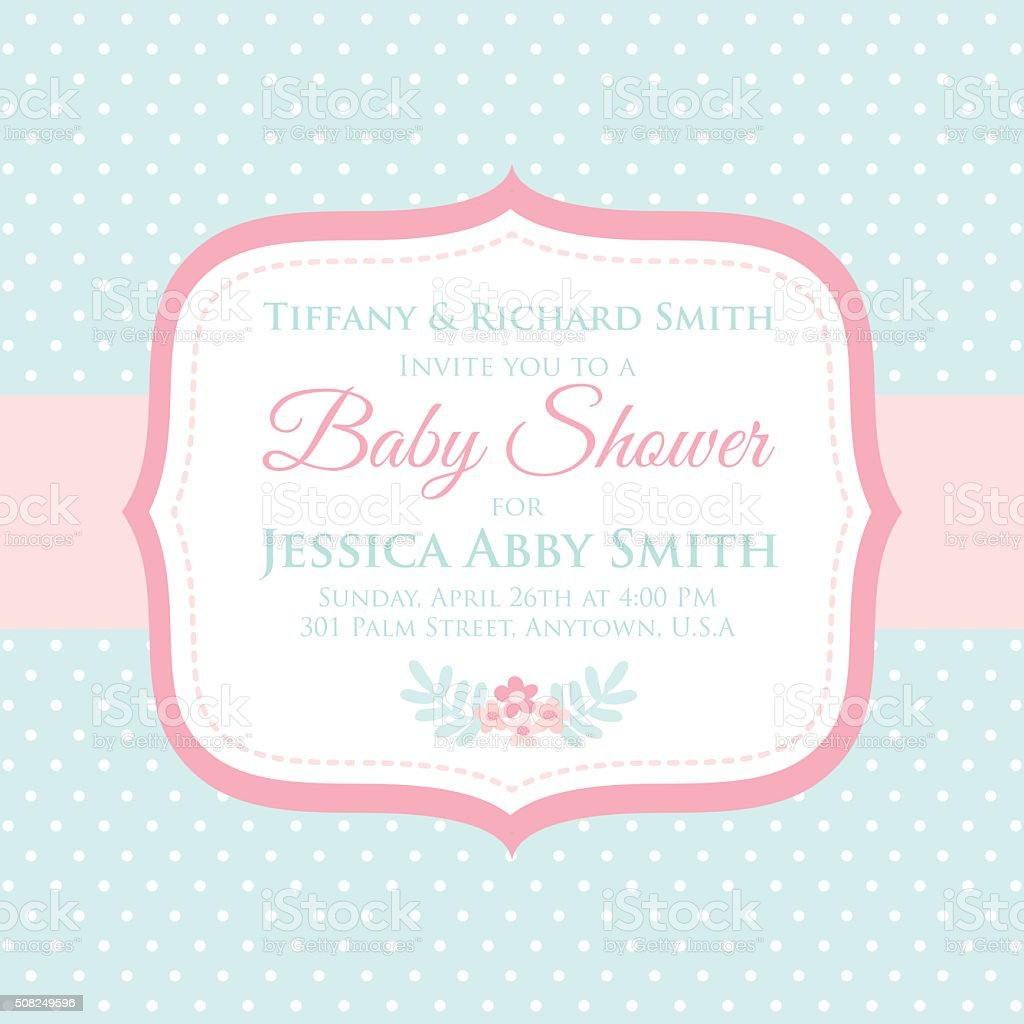Sweet baby shower invitation stock vector art more images of sweet baby shower invitation royalty free sweet baby shower invitation stock vector art amp stopboris Image collections