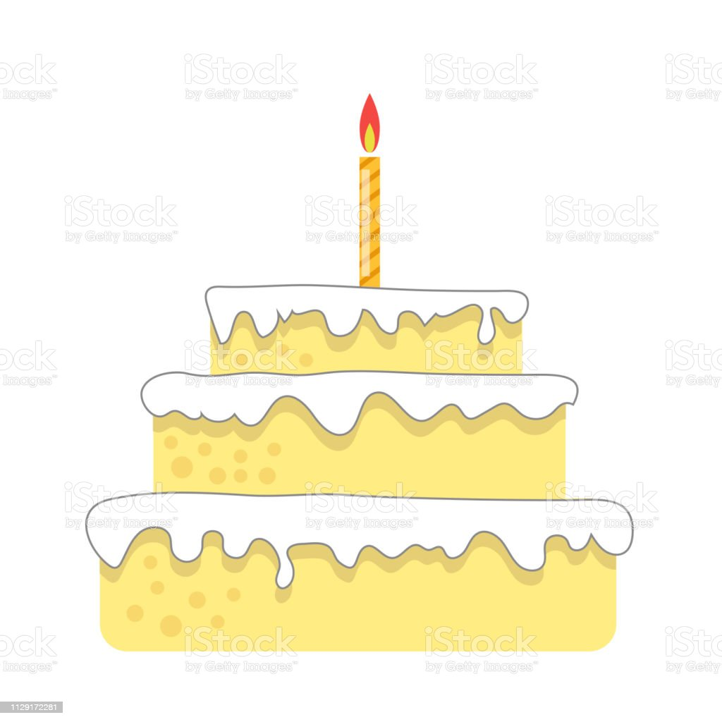 Astonishing Sweet Birthday Cake With Topping Isolated On White Background Funny Birthday Cards Online Benoljebrpdamsfinfo
