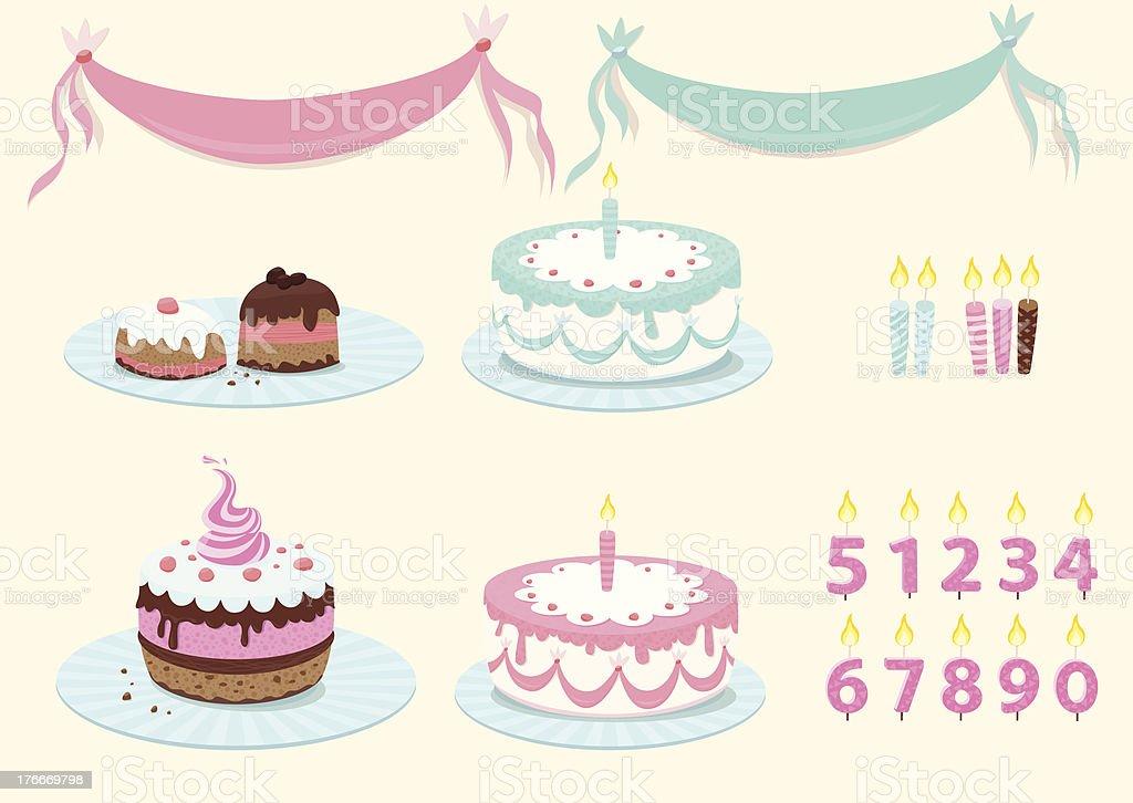 Colección Sweet cumpleaños ilustración de colección sweet cumpleaños y más banco de imágenes de al horno libre de derechos