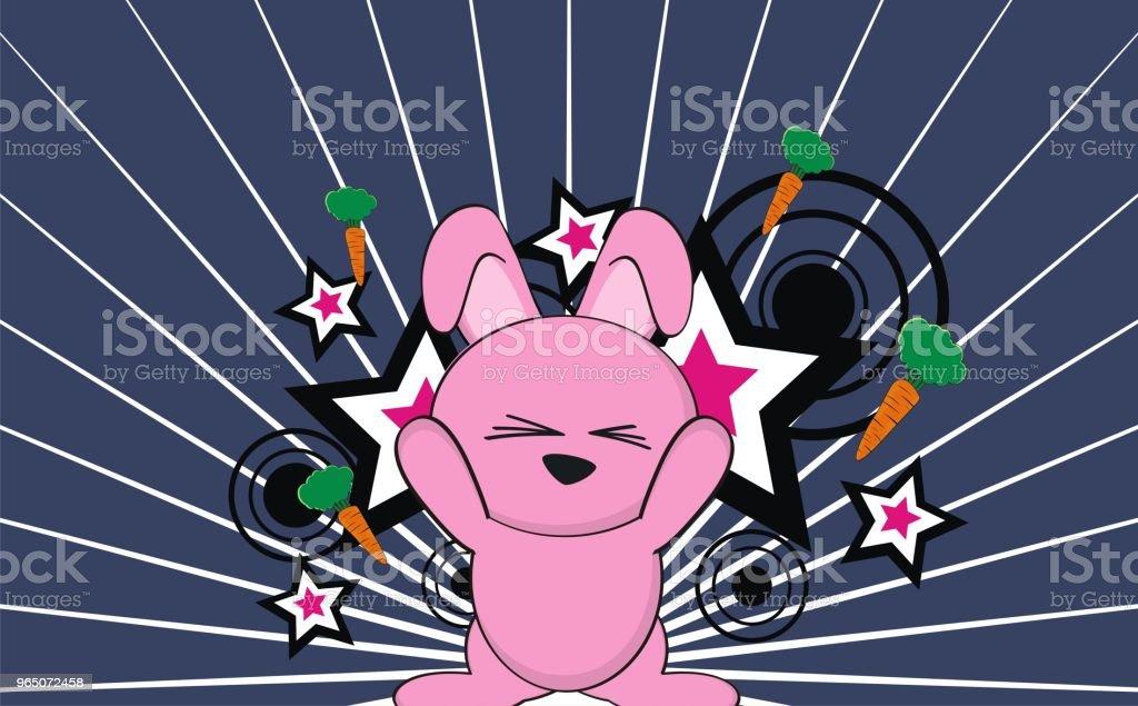 sweet bunny cartoon expression background sweet bunny cartoon expression background - stockowe grafiki wektorowe i więcej obrazów ameryka Łacińska royalty-free