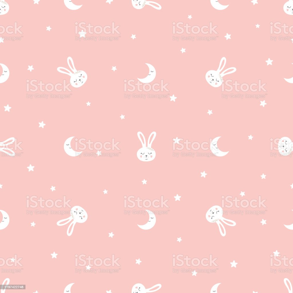 Sweet Bunny Seamless Pattern Sweet Dreams Kids Rabbit Print Pink Seamless Background Vector Texture Stock Illustration Download Image Now Istock
