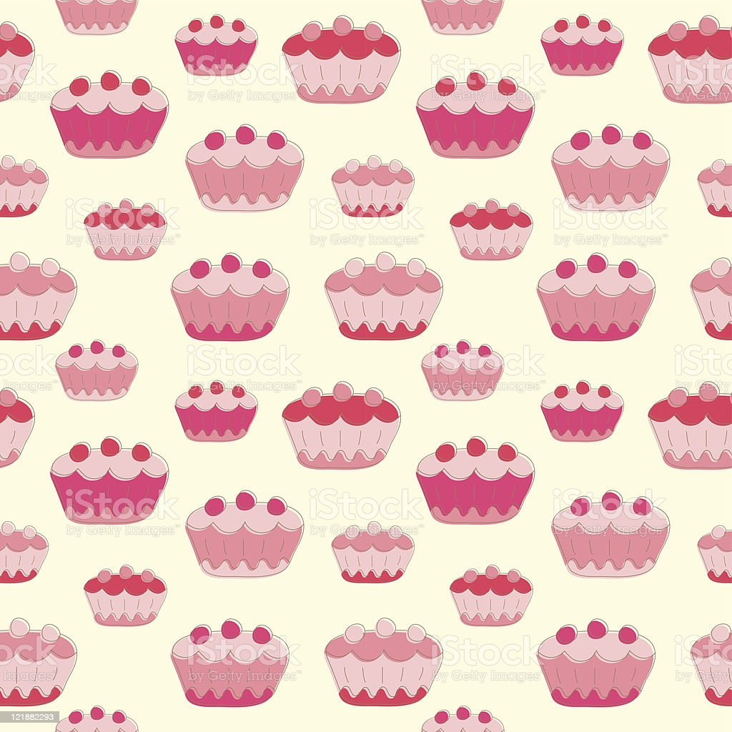 sweet cakes seamless background stock vector art amp more