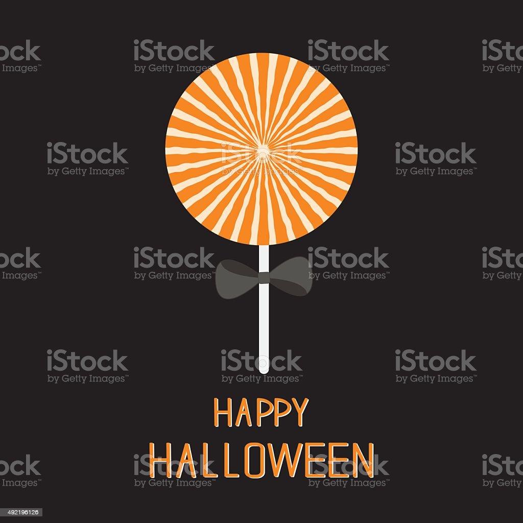 Süß Süßigkeiten Lollipop Und Starburstmuster Halloweenkarte ...