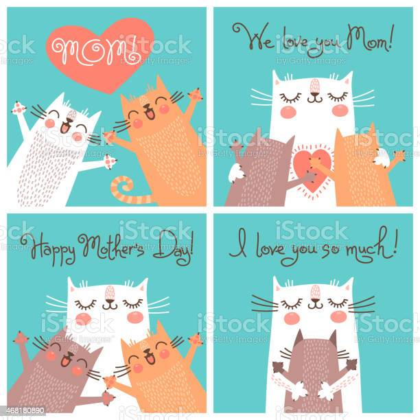 Sweet cards for mothers day with cats vector id468180890?b=1&k=6&m=468180890&s=612x612&h=svwvgyi9cwj n9nfkyri3uiafiran1pivxbfqqkm gq=