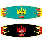 Chili sauce vector label design