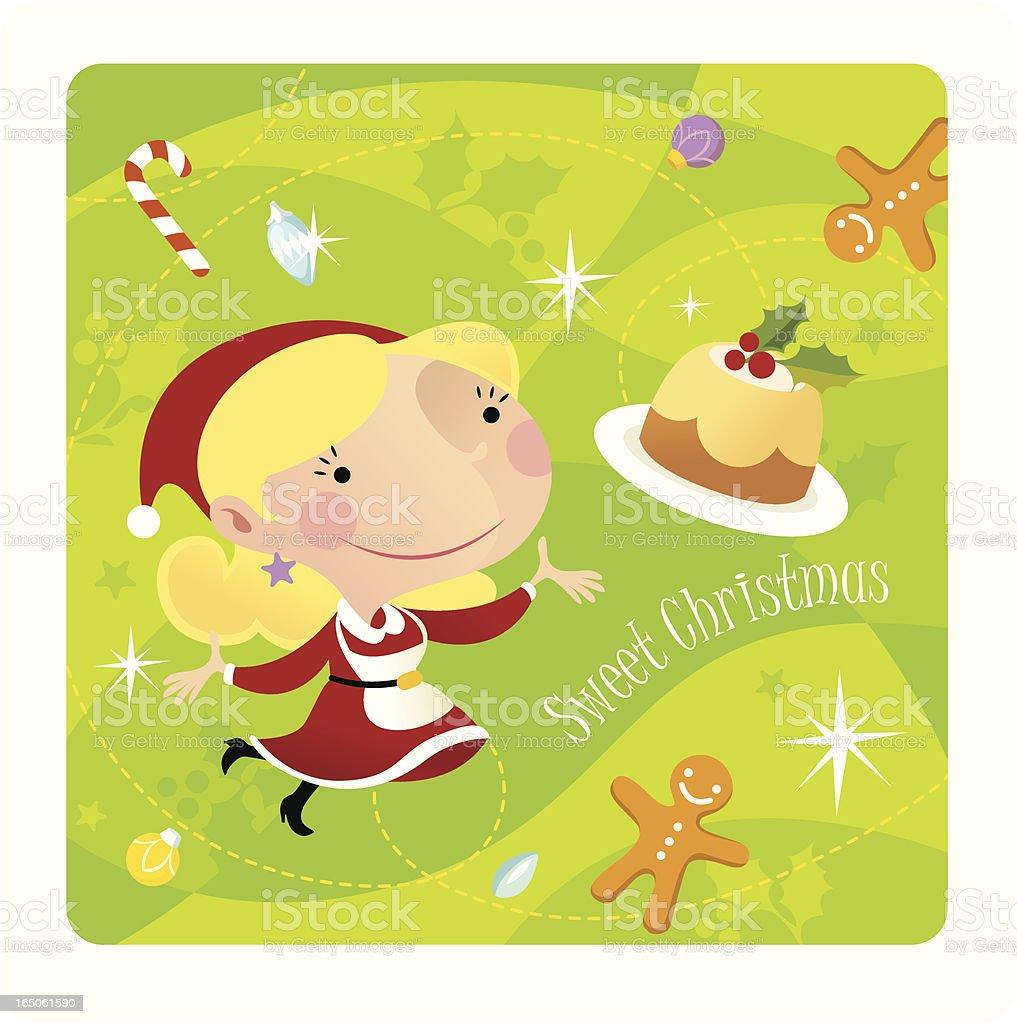 Sweet Christmas royalty-free stock vector art