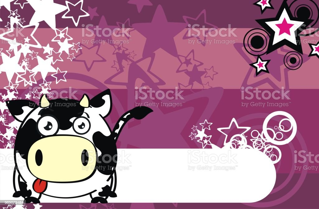 sweet cow cartoon background royalty-free sweet cow cartoon background stock vector art & more images of ball