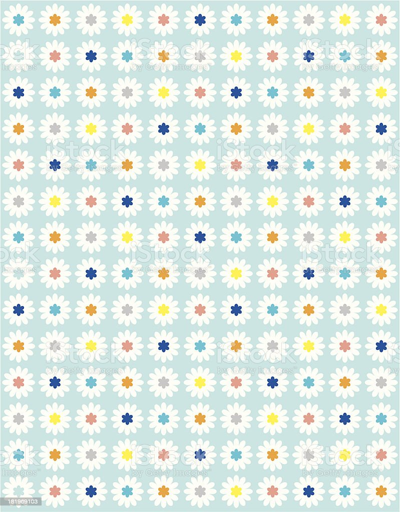 Sweet Daisy Dotty Floral in Repeat royalty-free stock vector art