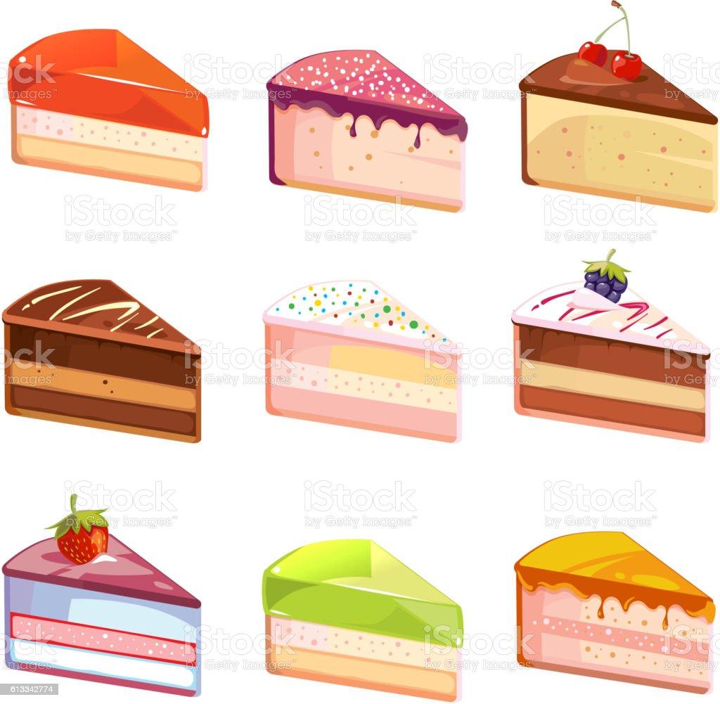royalty free slice of cake clip art vector images illustrations rh istockphoto com Cupcake Clip Art slice of chocolate cake clipart