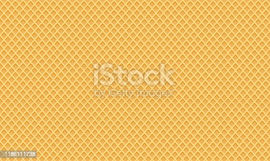 istock Sweet dessert wafer background, space for your text. Vector 1186111738