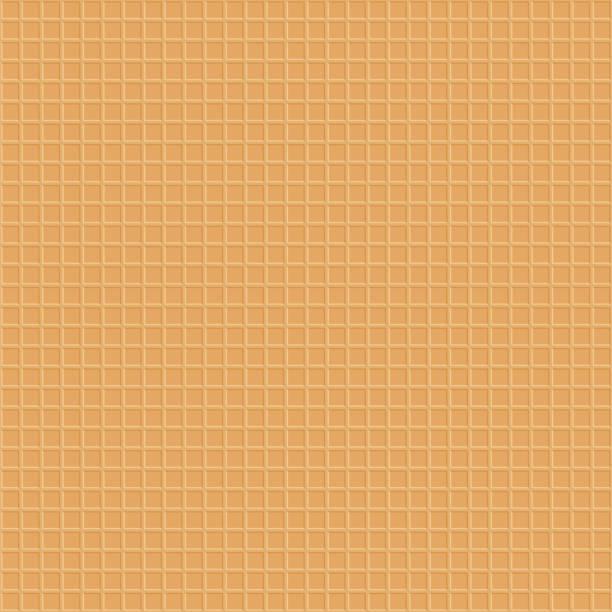 甘いデザート ワッフル模様のシームレスです - ワッフル点のイラスト素材/クリップアート素材/マンガ素材/アイコン素材