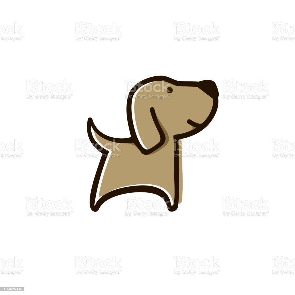 Sweet dog vector art illustration