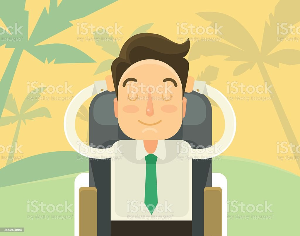Sweet dream about holiday. Vector flat illustration vector art illustration