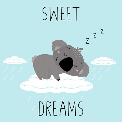 Sweet dreams concept.