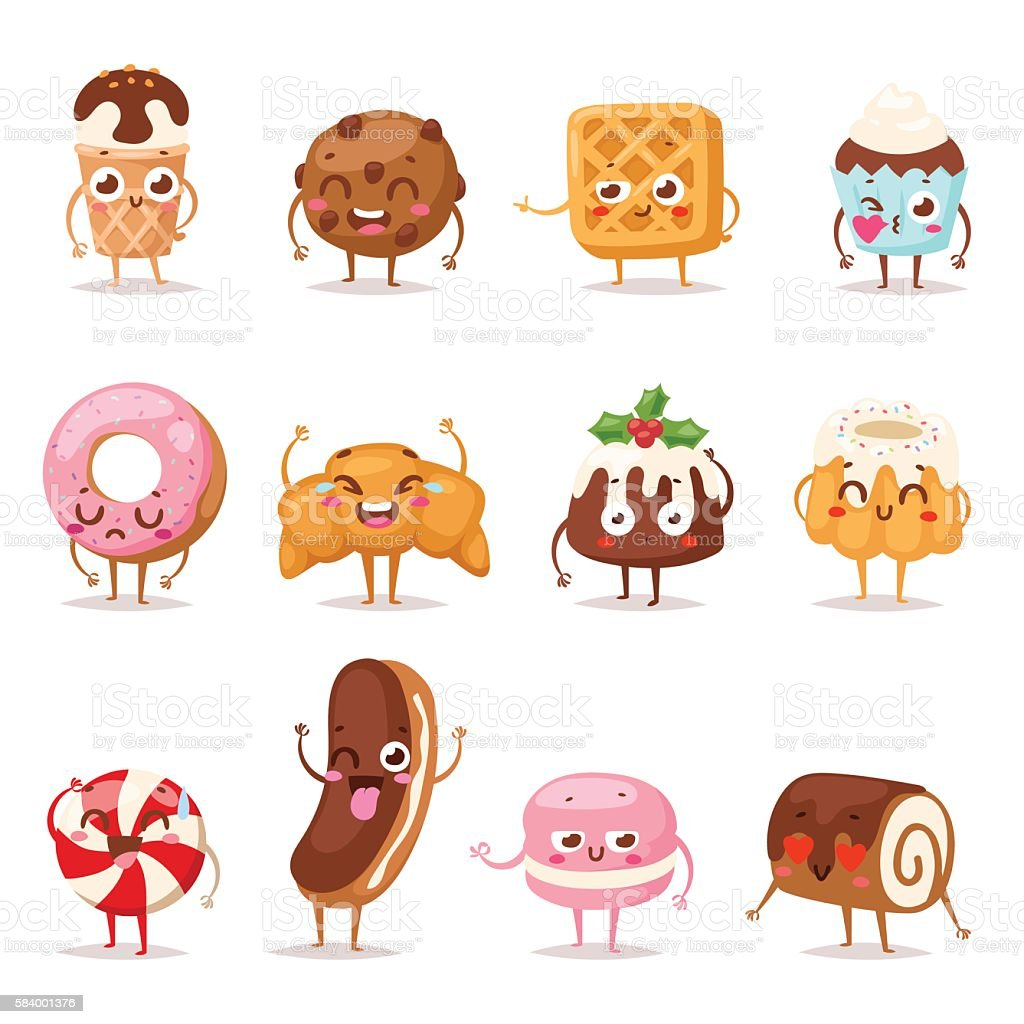 Sweet emotion vector set. vector art illustration