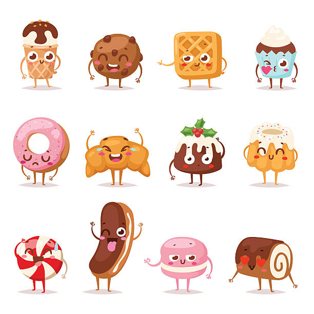 Sweet emotion vector set. – Vektorgrafik