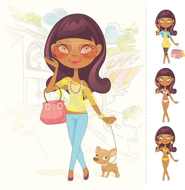 Sweet muñeca barbie (África - ilustración de arte vectorial