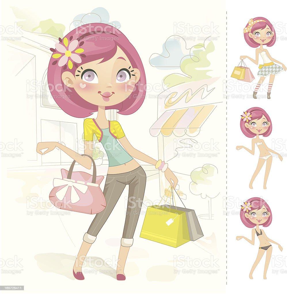 Sweet muñeca barbie - ilustración de arte vectorial