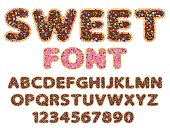 sweet font alphabet and numeral