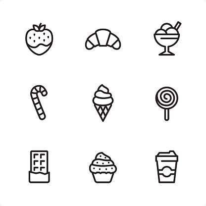 Sweet Food - Single Line icons