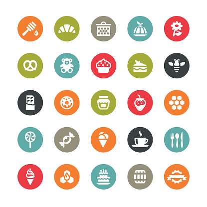 Sweet Food vector icons / Ringico series