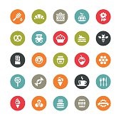 Sweet Food vector icons