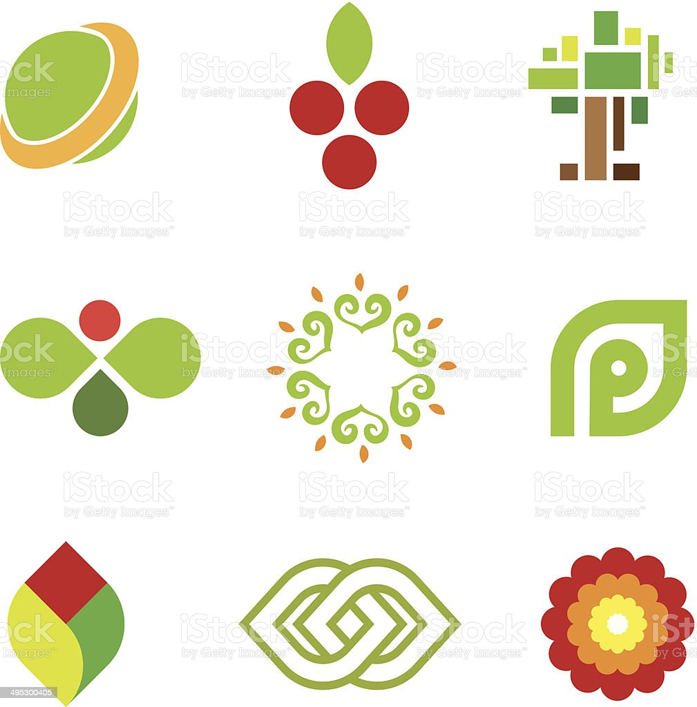 Sweet fruit of green nature safe world community icon vector art illustration