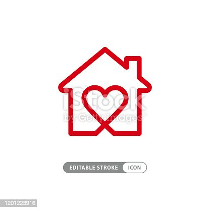 istock Sweet home symbol stock illustration 1201223916