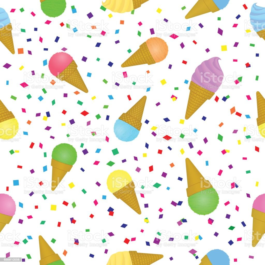 Seamless Ice Cream Wallpaper Royalty Free Stock Images: Sweet Icecream Seamless Pattern Holiday Festival Summer