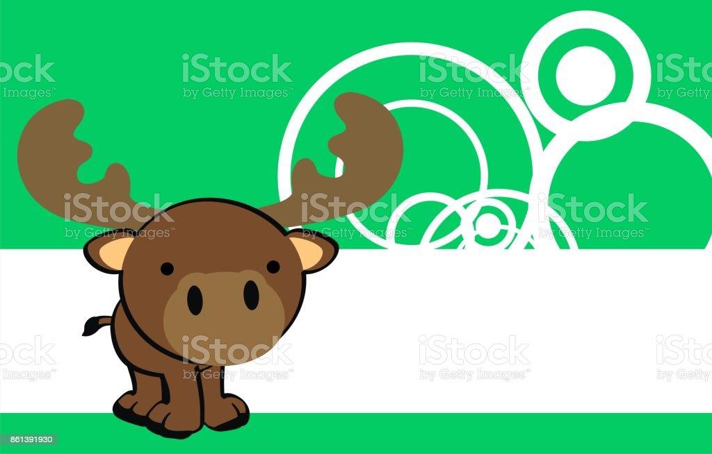 sweet little baby moose cartoon background