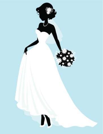 Sweet Little Bride Silhouette Stock Illustration - Download Image Now