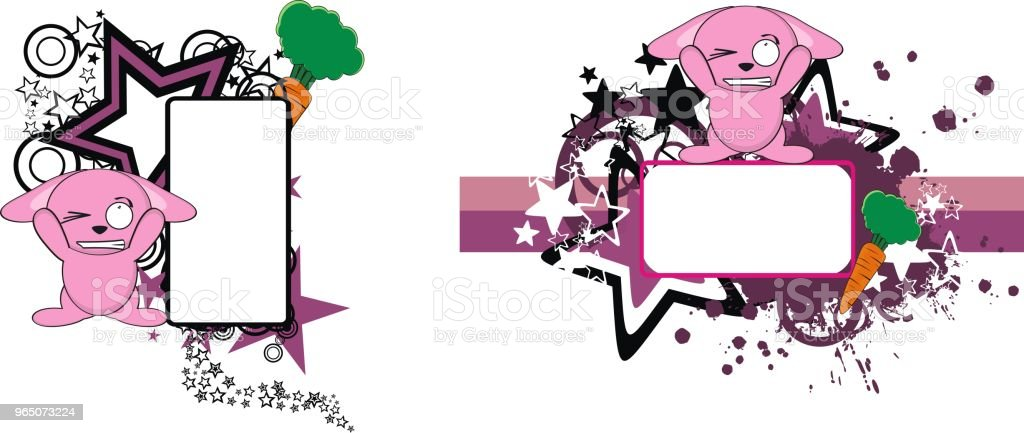 sweet little bunny cartoon copy space set royalty-free sweet little bunny cartoon copy space set stock vector art & more images of cartoon