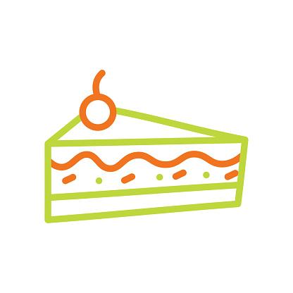 Sweet muffin cake line icon. Editable Stroke