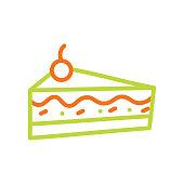 istock Sweet muffin cake line icon. Editable Stroke 1294822371