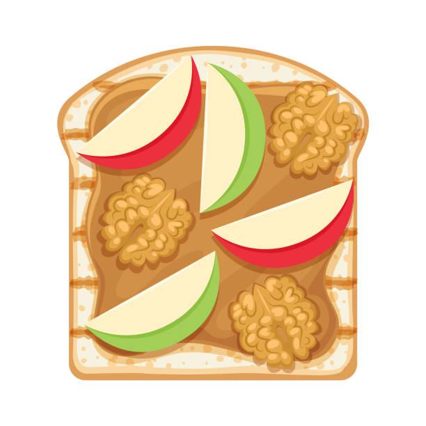 54 Apple And Peanut Butter Illustrations & Clip Art - iStock