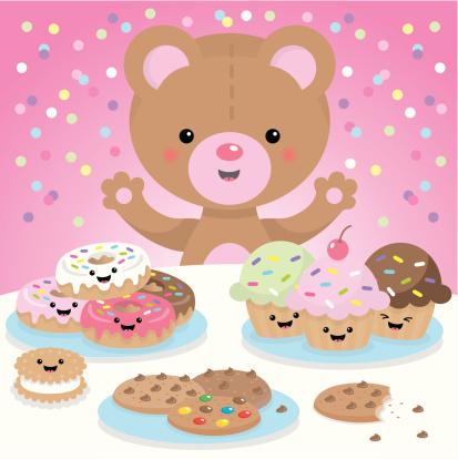 Sweet party kawaii bear