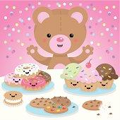 Cute teddy bear having a party!