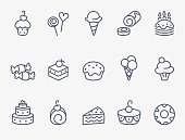 Sweet pastry icons