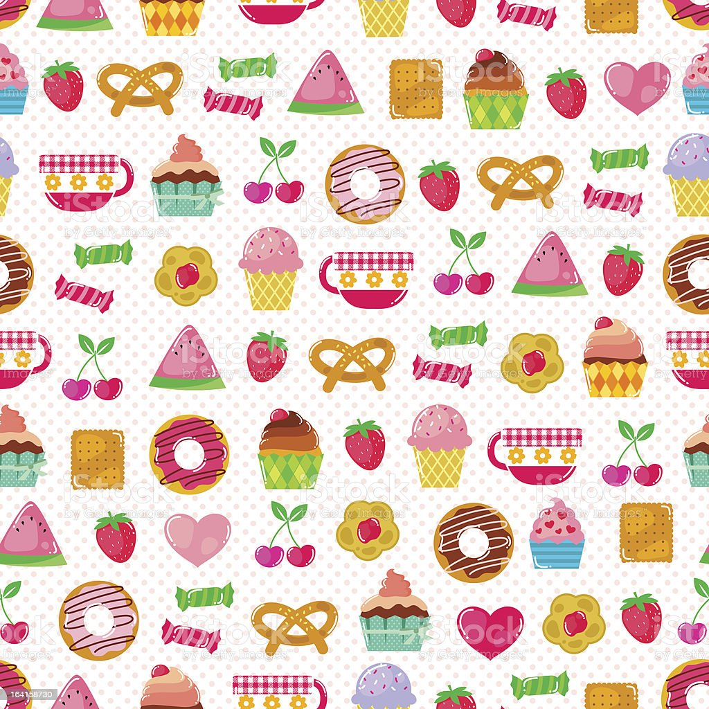 sweet pattern royalty-free stock vector art