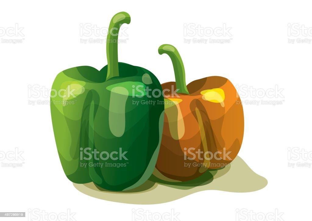 Sweet pepper royalty-free stock vector art