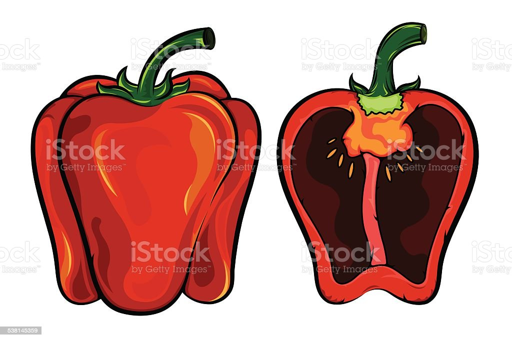 Sweet Peppers vector art illustration