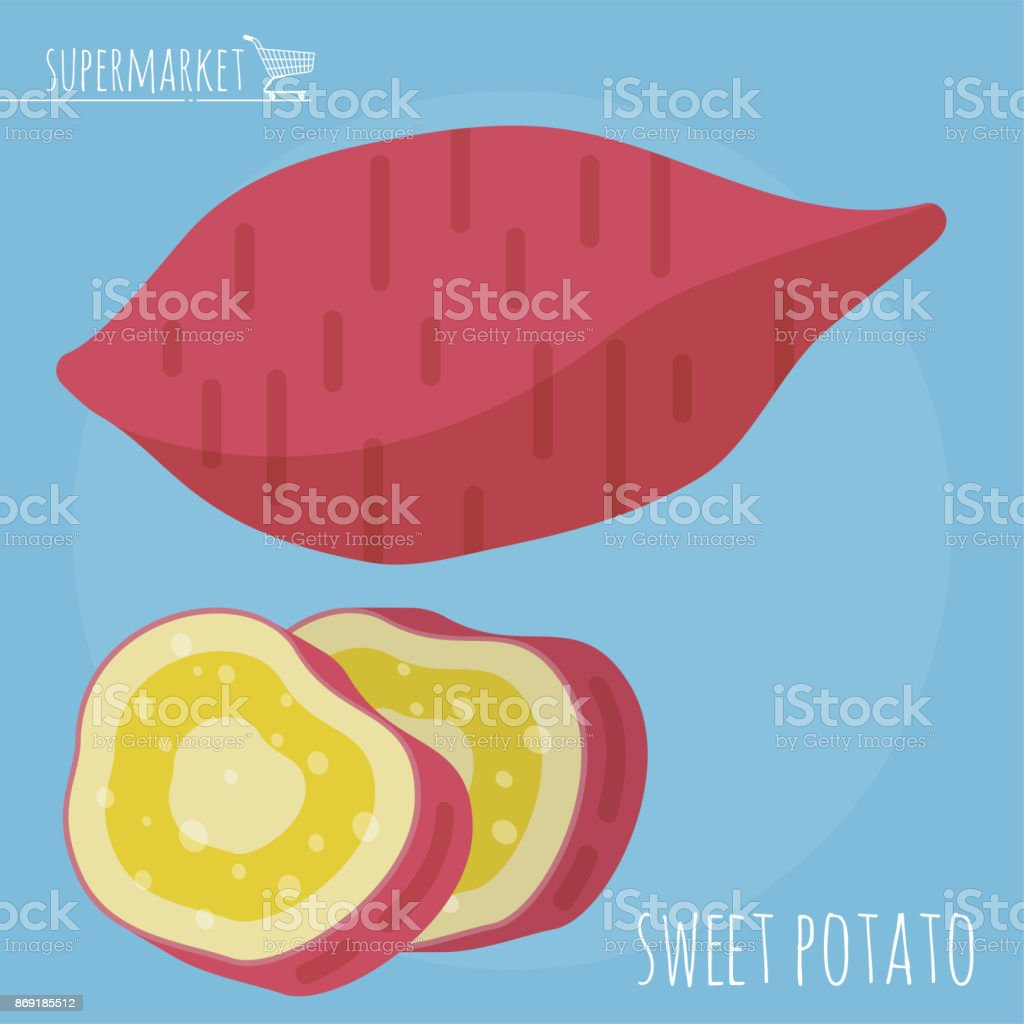 Sweet potato vector icon vector art illustration